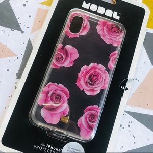 Modal Clear Rose Phone Case for iPhone X & XS